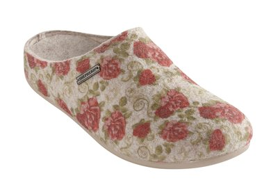 Shepherd slipper Cilla beige/flower